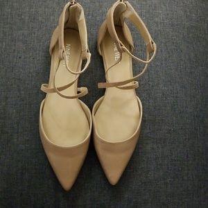 Pointy Toe Strappy Flats